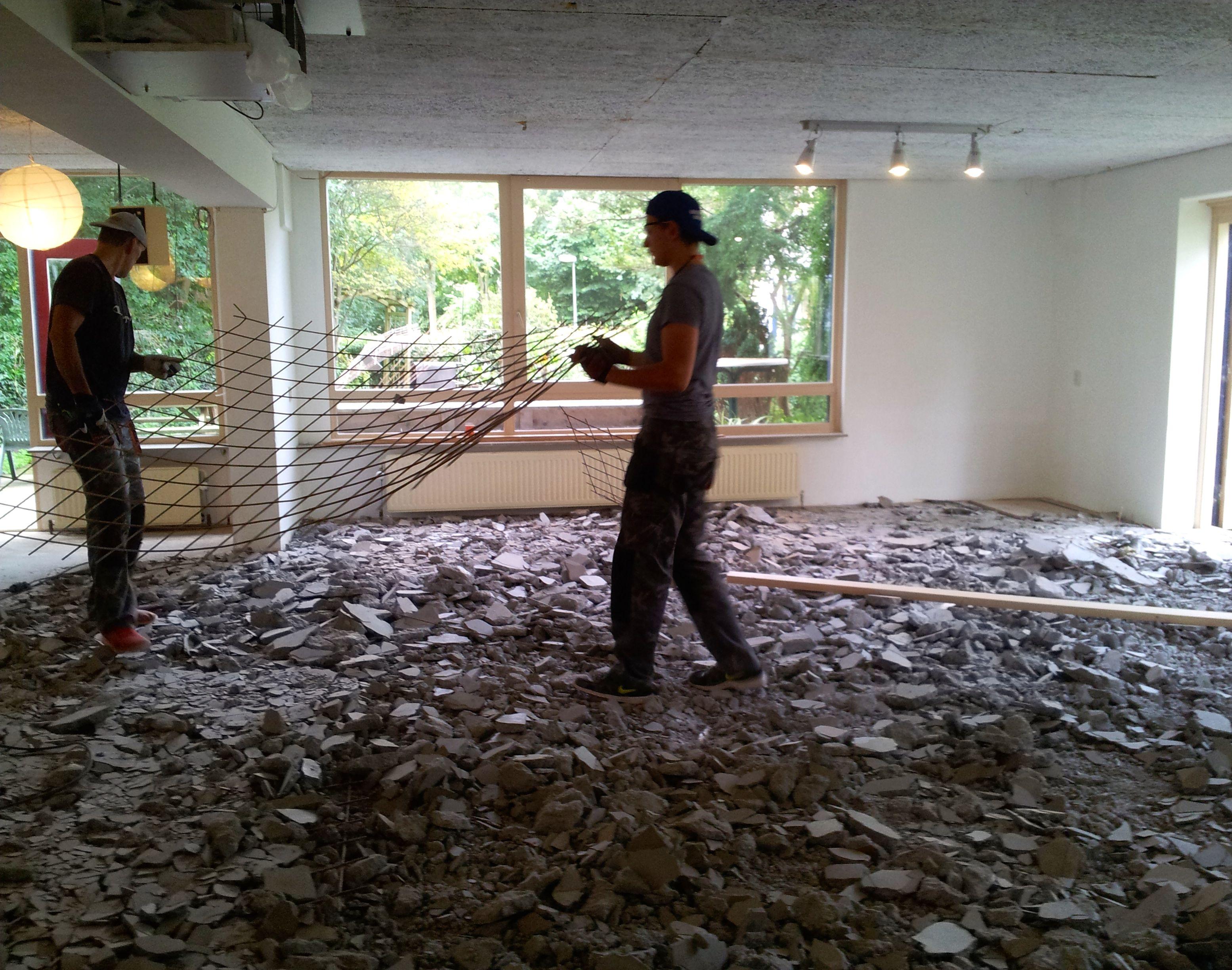 Een nieuwe vloer in de grote zaal centraal wonen houtwijk