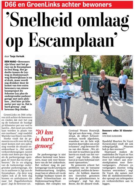 Telegraaf artikel 30 km